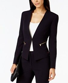Initiative Tahari Asl Brown Career Blazer Jacket Size 8 Clothing, Shoes & Accessories Women's Clothing