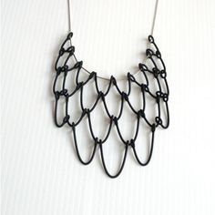 Chic black 3D printed pendant