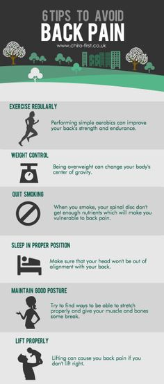 Top tips to avoid backpain // bolingbrookfamilychiropractic.com
