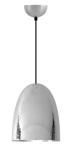 The Cooper Pendant Hammered Nickel - £330.00 - Hicks and Hicks