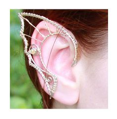 Custom silver hairfriendly elf ears by Belethil on Etsy, $100.00