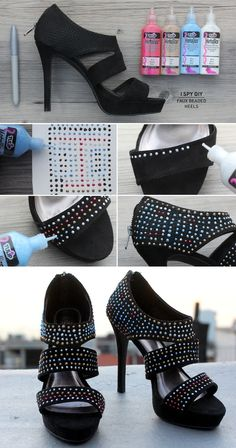 I Spy DIY: MY DIY | Faux Beaded Heels & Contest