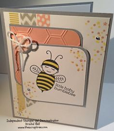 Stampin' Up Baby Bumblebee Stamp. Sweet Dreams washi tape and buttons. See more at the Scrap Tree. www.thescraptree.com