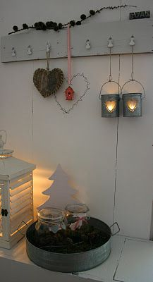 I love the shutter candle holder, and the heart cut out cans...maybe I can figure these out???!!!