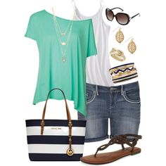 Summer Days - Plus Size, created by kerimcd on Polyvore