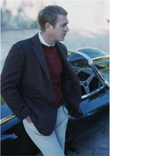 Steve McQueen..This always works. According to my Mother, good style never goes out of Fashion:)
