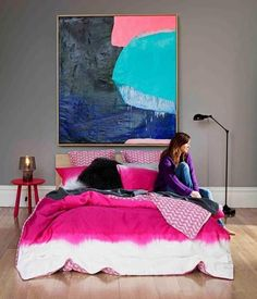 Home Decor Hot pink+chevron home interior Thanks to Dot & Bo for featuring me as the in their top 50 influencers in Home Design bl. Home Bedroom, Girls Bedroom, Bedroom Decor, Master Bedroom, Design Bedroom, Girl Room, Bedroom Nook, Teen Bedrooms, Bedroom Inspo