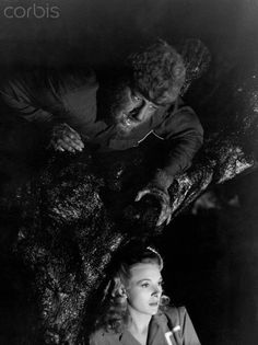 Wolfman~Photo~Horror~Tree~Ankers~Lon Chaney~Personality Poster~ x Cool Monsters, Horror Monsters, Famous Monsters, Classic Monsters, Hollywood Monsters, Lon Chaney Jr, The Frankenstein, Sci Fi Films, Classic Horror Movies