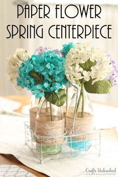 Make your own spring centerpiece to use for Easter and more!