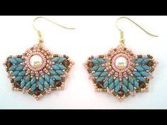 Beading4perfectionists: Art Deco stylish earrings beading tutorial - YouTube