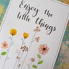 Brush Lettering, Lettering Design, Bullet Art, Karten Diy, Journal Inspiration, Doodles, Scrapbook, Letters, Watercolor