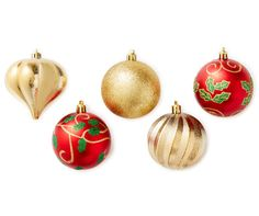 Red & Gold Shatterproof Ornaments, 30-Pack at Big Lots.