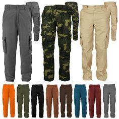 VITryst-Men Outdoor Army Pocket Trim Camouflage Cargo Work Pants