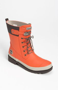 Love these. Pretty color for our dreary rainy days! Timberland 'Wellie' Waterproof Boot available at #Nordstrom
