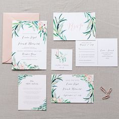 This floral wedding invitation set is all about that botanical trend! Our - EUCALYPTUS - digital printable wedding invitation suite will fit in any garden, bohemian, minimalist, modern and simple wedding. All of our wedding invitations sets can be personalized.