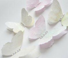 Pearl Diamond Butterfly Embellishments wedding confetti scat