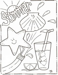 summertime coloring sheets | Michelle Kemper Brownlow: Summer Coloring Pages - Original MKB Designs