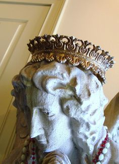 Antique Crown for Statue Fleur de Lis Cast Metal Gold Spelter from Etsy
