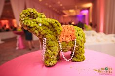 A bride and groom choose a pink rose them for their wedding decor. Indian Wedding Theme, Indian Wedding Decorations, Flower Decorations, Wedding Centerpieces, Indian Weddings, Hindu Weddings, Indian Party, Centrepieces, Indian Bridal