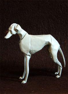 neat! Greyhound oragami!