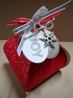 Christmas Joy Curvy Keepsake Box
