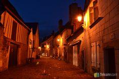 Valle del Loira: Azay le Rideau de noche