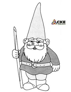 Cute Garden Gnome Drawing