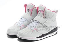 www.kidsjordansho... Only$76.00 NIKE GIRLS JORDAN FLIGHT 45 HIGH (GS) WHITE/FUSION PINK/BLACK CO Free Shipping!