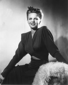 Vocalist, Peggy Lee - ( May 26, 1920 – January 21, 2002) - Birth name: Norma Deloris Egstrom - Birth place: Jamestown, North Dakota - Place of death: Los Angeles, California - Peggy was a vocalist with Benny Goodman & His Orchestra