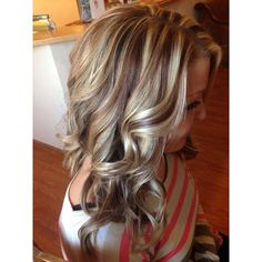 A different hair color special every day! Enjoy today's gallery with multi colored highlights! Love Hair, Great Hair, Gorgeous Hair, Gorgeous Blonde, Hair Color Highlights, Low Lights And Highlights, Chunky Blonde Highlights, Caramel Highlights, Balayage Highlights