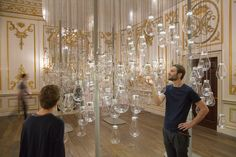 - Curiosity Cloud installation by Mischer'Traxler for Perrier-Jouët (264 suspended blown-glass bulbs, each of which contains a hand-made model of an insect)