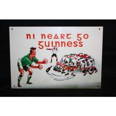 Guinness for Strength Irish Rugby Pub Bar Advertising Metal Sign from Ireland
