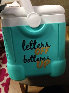 Theta little crafting letters off bottoms up cooler