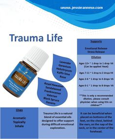 Trauma Life Essential Oil, Young living essential oils, dilution ratios, all natural living, back in stock Stress Relief Essential Oils, Essential Oils 101, Essential Oil Blends, Yl Oils, Doterra Oils, Young Living Oils, Young Living Essential Oils, Trauma, Relax