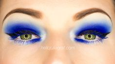 Electric Blue eyes! See more pics and full tutorial on hellojuliagraf.com