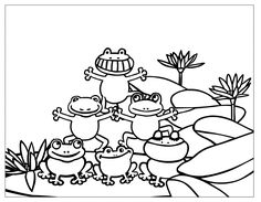 frog color sheet for kids kiddo shelter