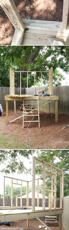 how_to_build_a_treehouse #howtobuildaplayhouse #buildplayhouses