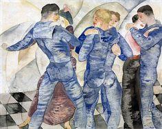 Dancing Sailors by Charles Demuth, circa 1918 watercolor