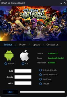 New hack from our developer team! We present you Clash of Gangs hack! It has alot of features. Download it now!