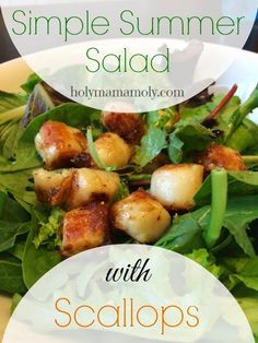 holymamamoly - Simple Summer Salad with Scallops
