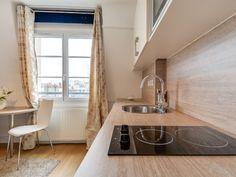 Même un studio peut être spacieux ! Et vivre dans un espace réduit ne dispense pas de profiter d'une cuisine bien équipée et facile à utiliser. L'aménagement est délicat, mais le défi ... #maisonAPart