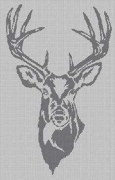 Grey Deer head silhouette cross stitch pattern in pdf Cross Stitch Pattern Maker, Cross Stitch Art, Cross Stitch Animals, Cross Stitch Patterns, Pixel Crochet Blanket, Afghan Crochet Patterns, Weaving Patterns, Hand Embroidery Stitches, Cross Stitch Embroidery