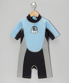 Look at this #zulilyfind! Blue & Black One-Piece Wetsuit - Infant, Toddler & Boys by Baby Banz #zulilyfinds