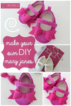 DIY Baby Gifts - Make Your Own DIY Mary Janes - Homemade Baby Shower Presents and Creative, Cheap Gift Ideas for Boys and Girls - Unique Gifts for the Mom and Dad to Be - Blankets, Baskets, Burp Cloths and Easy No Sew Projects http://diyjoy.com/diy-baby-shower-gifts