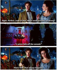 Doctor talking to the Tardis.about the tardis! Doctor Who, 11th Doctor, Eleventh Doctor Quotes, Tardis, Don't Blink, Amy Pond, Torchwood, Geronimo, Matt Smith