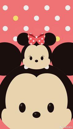 Tsum Tsum Wallpaper, Mickey Mouse Wallpaper, Disney Phone Wallpaper, Kawaii Wallpaper, Wallpaper Iphone Cute, Galaxy Wallpaper, Cartoon Wallpaper, Cute Wallpapers, Fundo Tsum Tsum