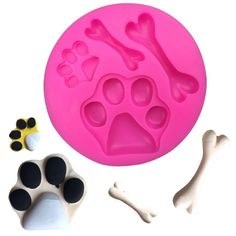 Paws DIY pink Liquid silicone cake mold baking double sugar tool mould pet toys chocolate die hand soap die dog a bone Patrol chase by ToonTopper on Etsy