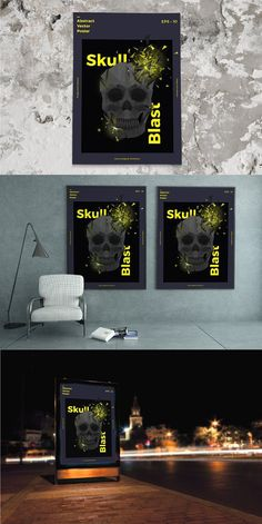 Skull Blast Poster Template. Flyer Templates