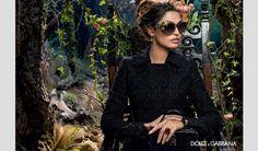 Bianca Balti in the Dolce&Gabbana Eyewear Fall Winter 2014-15 Advertising Campaign -