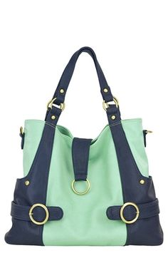 Timi & Leslie 'Hannah' Faux Leather Diaper Bag
